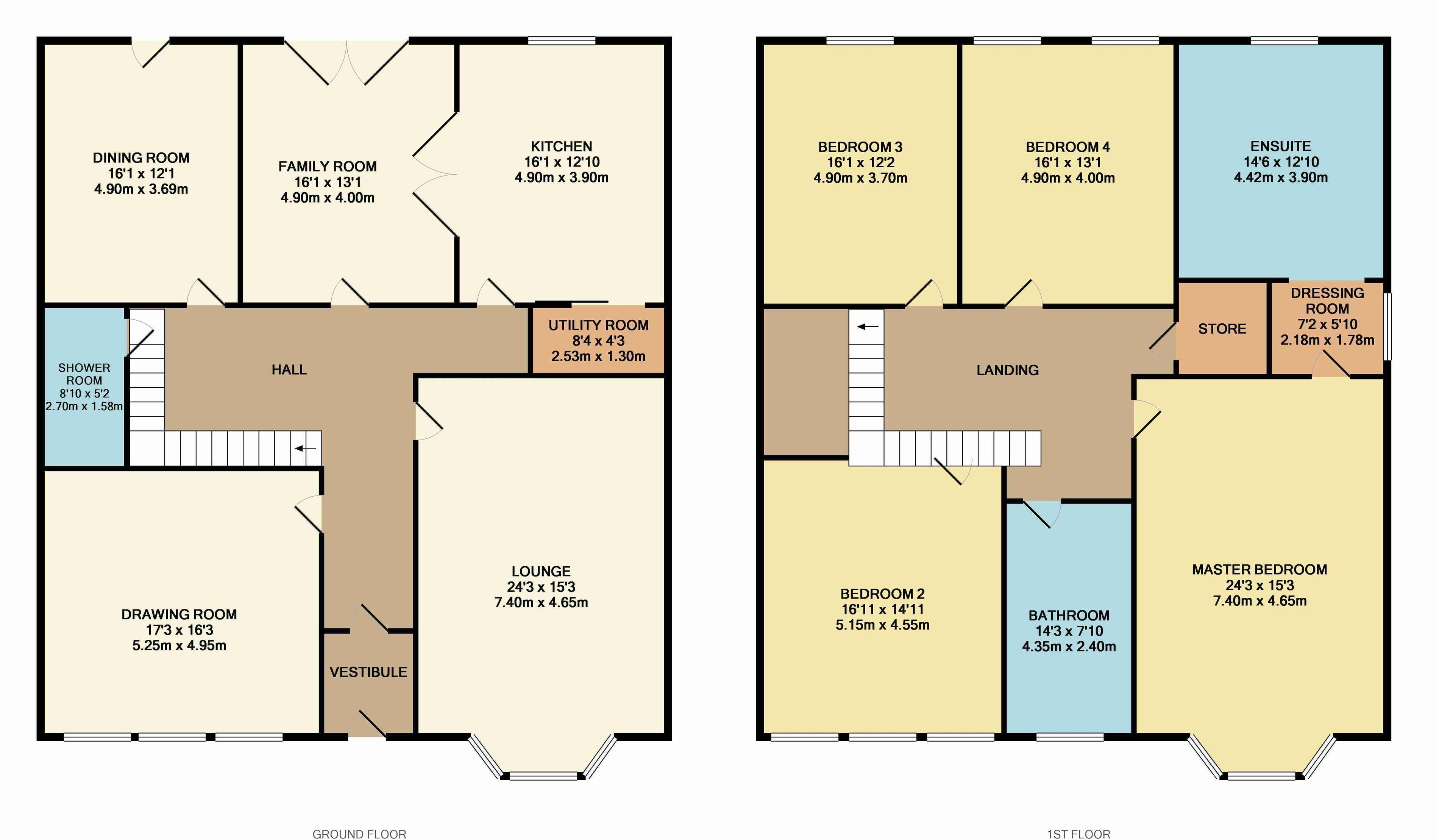 18 spectacular semi detached house plan house plans 3735 for Three bedroom semi detached house plan